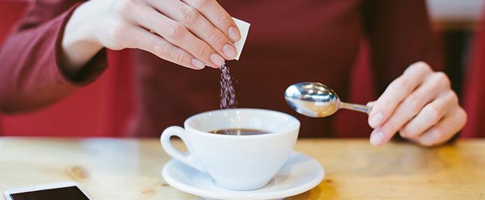 Azúcar en café